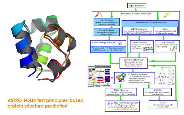 ASTRO-FOLD: protein structure prediction from first principles